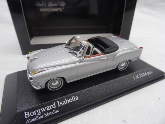 Borgward Isabella Cabriolet 1959 Zilver 1-43 Minichamps Limited 2016 pcs.