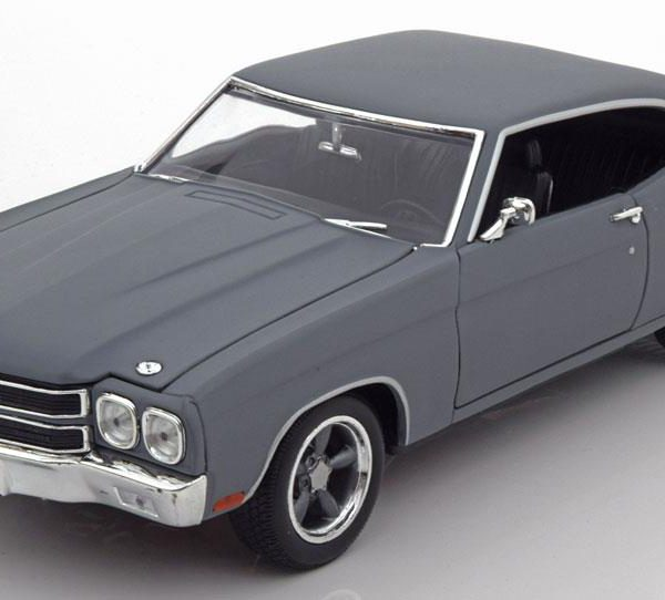 """Chevrolet Chevelle SS 1970 """"Fast and Furious""""Grijs 1-18 Greenlight Collectibles"""