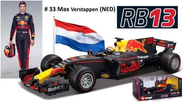 Red Bull Racing RB13 2017 Max Verstappen 1:18 Burago