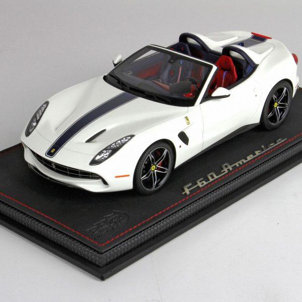 Ferrari F60 America 2014 Wit 1-18 Inkl Vitrine BBR Models Limited 60 Pieces