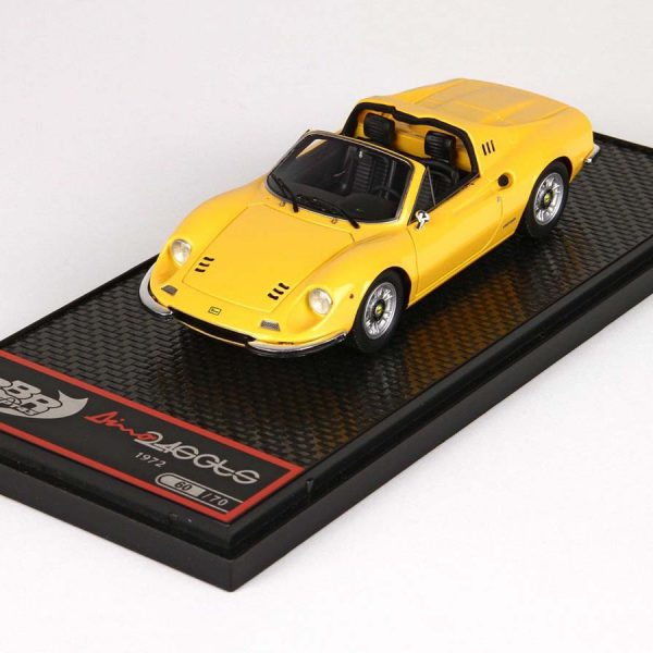 Ferrari Dino 246 GTS 1972 Giallo Modena ( Yellow ) 1-43 BBR Models Limited 70 Pieces