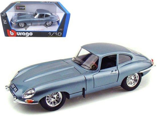 Jaguar E-Type Coupe 1961 Blauw 1:18 Burago