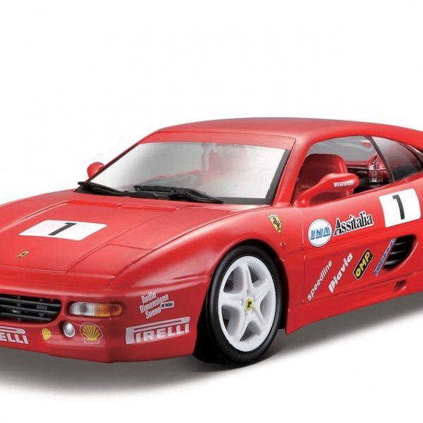 Ferrari F355 Challenge Nr# 1 Rood 1-24 Burago Racing