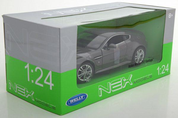 Aston Martin Vantage V12 Grijs 1-24 Welly