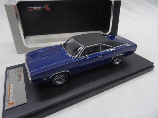 Dodge Charger 500 1970 Blauw 1:43 PremiumX