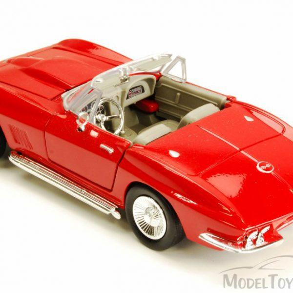 Chevrolet Corvette 1967 Rood 1-24 Motormax