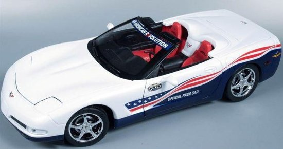 Chevrolet Corvette C5 Pace Car 2004 Wit 1/18 AutoWorld Ertl