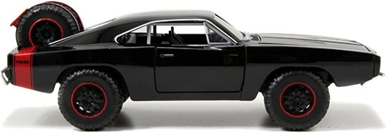 "Dodge Charger R/T 1970 Off Road Dominic's ""Fast and the Furious 7""1-24 Zwart Jada Toys"