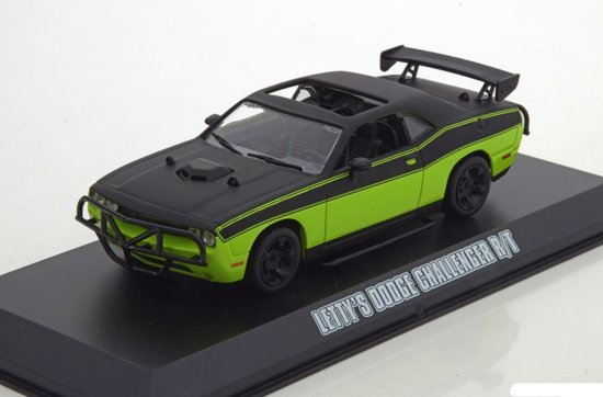Letty's Dodge Challenger R/T Film Fast & Furious 7 2015 Groen / Zwart 1:43 Greenlight Collectibles