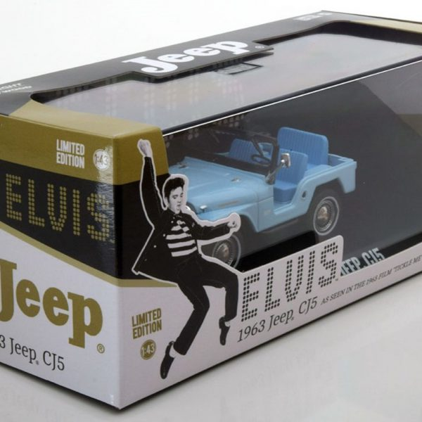 Jeep CJ5 Elvis Presley 1963 Blauw 1-43 Greenlight Collectibles