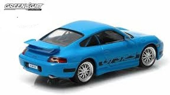 Brian's Porsche 911 Carrera GT3 RS 2001 Blauw Fast and the Furious 1-43 Greenlight Collectibles