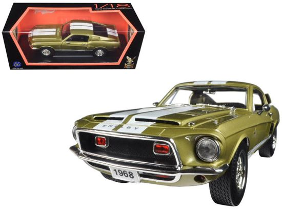 Shelby GT500 KR 1968 Gold 1:18 Yatming Lucky Diecast