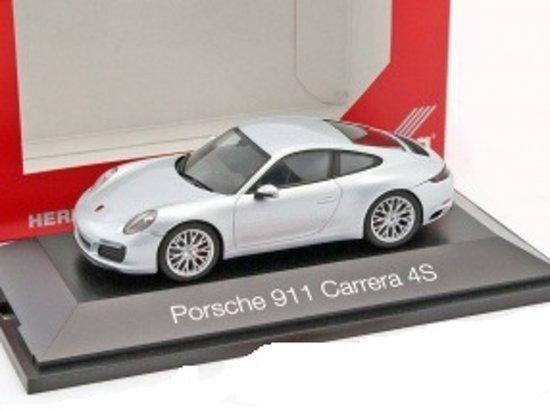 Porsche 911 (991) Carrera 4S zilver 1:43 Herpa