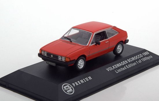 Volkswagen Sirocco 1980 Rood 1/43 Triple 9 Collection Limited 1000 pcs.