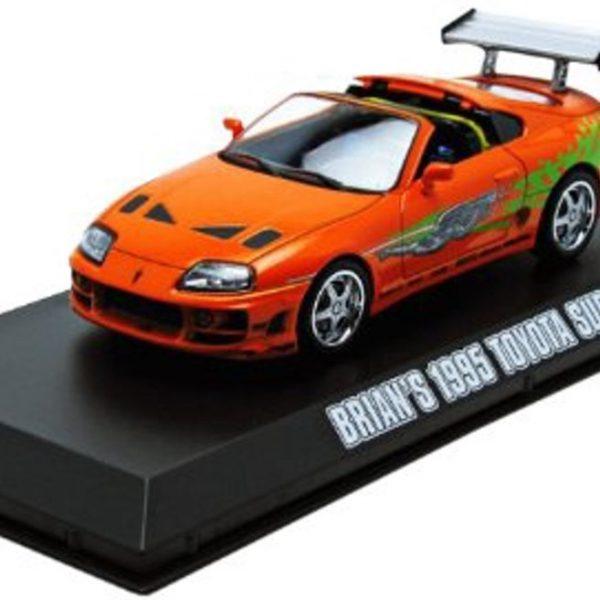 Brian's 1995 Toyota Supra MK IV Oranje Schaal 1/43 Greenlight Hollywood Collection