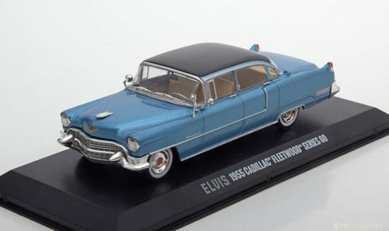 Cadillac Fleetwood Series 60 Elvis Presley 1955 Blauw met Zwart dak 1-43 Greenlight Collectibles
