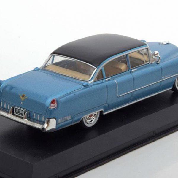 Cadillac Fleetwood Series 60 Elvis Presley 1955 Blauw met Zwart dak 1-43 Greenlight Collectibles