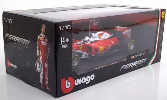 Ferrari SF16-H 2016 S.Vettel 1-18 Burago Special Edition voor Italia ( zwarte Doos )