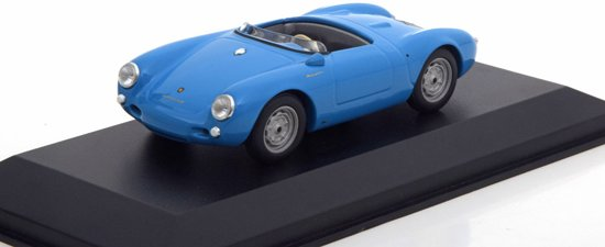 Porsche 550 Spyder 1955 Blauw 1:43 Maxichamps