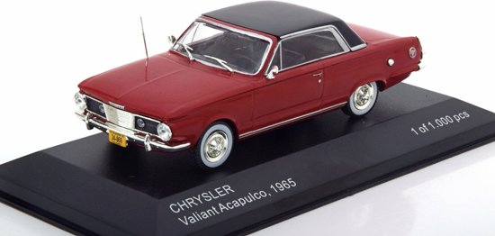 Chrysler Acapulco 1965 Bordeaux rood / Zwart 1-43 Whitebox Limited 1000 Pieces