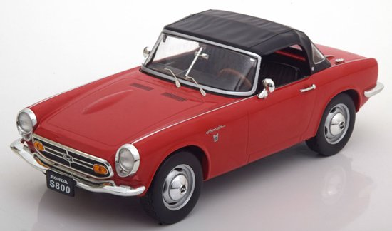 Honda S800 Cabrio met Softtop 1966 Rood 1-18 Triple 9 Collection