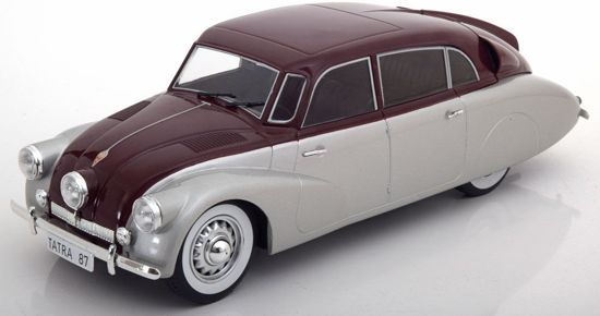 Tatra 87 1937 Dark Red / Silver 1-18 MCG Models