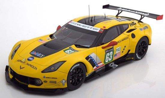 Chevrolet Corvette C7 R LMGTE Pro 24 Hrs Le Mans #63 Geel 1/18 Autoart