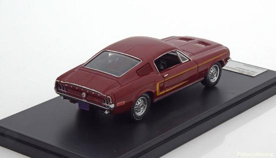 Ford Mustang GT-390 Fastback 1968 Rood 1-43 PremiumX