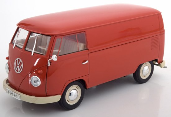 Volkswagen T1 Bus 1963 Rood 1-18 Welly