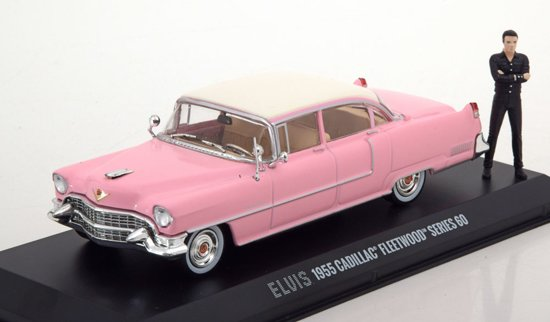 "Cadillac Serie 60 Fleetwood 1955 ""Elvis Presley ""met Figuur 1-43 Greenlight Collectibles"