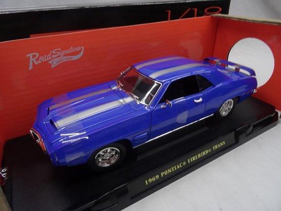 Pontiac Firebird Trans Am 1969 Blauw 1-18 Lucky Diecast