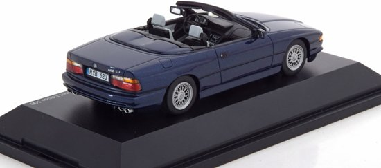 BMW 850 CI E31 Cabrio 1992 Blauw 1-43 Schuco Pro R Limited 500 pcs.
