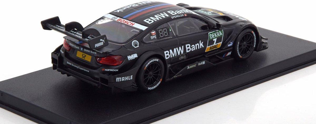 BMW M4 No.7, DTM 2017 Spengler 1-43 Zwart Herpa
