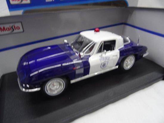 Chevrolet Corvette 1965 Police 1/18 Maisto