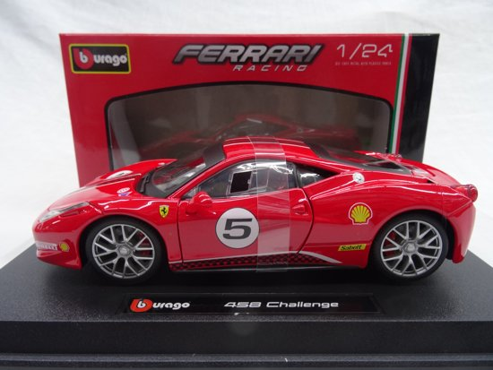 Ferrari 458 Challenge Nr# 5 Rood 1-24 Burago Racing