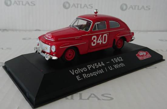 Volvo PV544 #340 E.Rosqvist/U.Wirth Rally Monte Carlo 1962 1-43 Atlas Collection