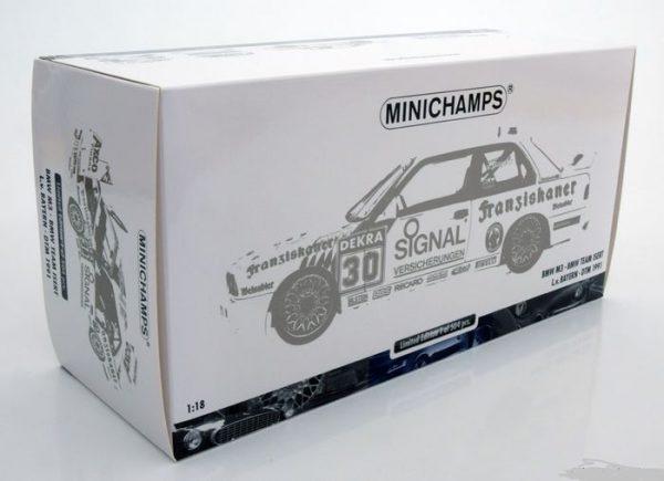 BMW M3 E30 #30 BMW Team Isert DTM 1991 1:18 L.v.Bayern Minichamps Limited 504 pcs.