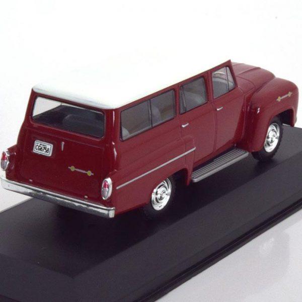 Chevrolet Amazona 1963 Donkerrood/Wit 1-43 Whitebox Limited 1000 Pieces