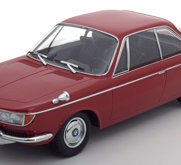 BMW 2000 CS Coupe 1965 Donkerrood BMW 2000 CS Coupe 1965 Donkerrood 1/18 KK Scale Limited Edition 1000 pcs