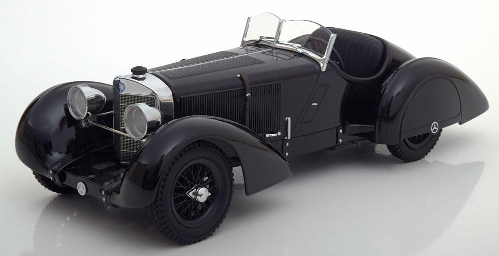 "Mercedes-Benz SSK Count Trossi ""de Zwarte Prins"" 1930 Zwart 1-18 KK-Scale Limited 3000 pcs."
