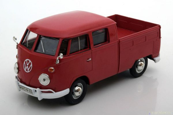 Volkswagen Type 2 T1 Bus Double Cab Pick Up 1-24 Motormax Rood