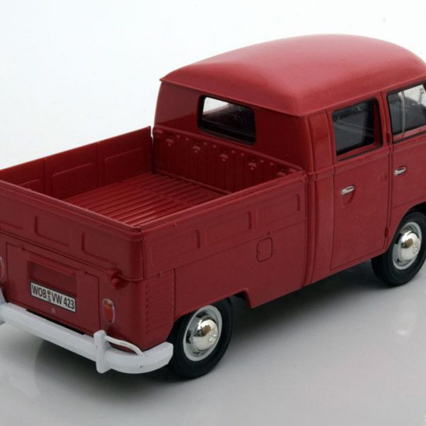 Volkswagen Type 2 T1 Bus Double Cab Pick Up 1-24 Motormax Rood