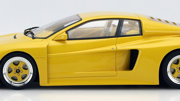 Ferrari Testarossa Koenig Competition Evolution 1000 CV 1991 Geel 1:18 Limited 504 Pieces