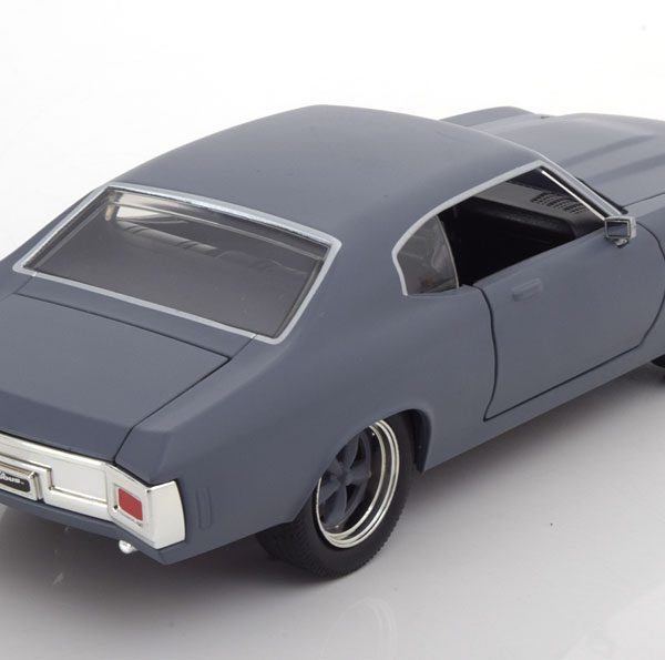 "Chevrolet Chevelle SS 1970 Dom's ""Fast and Furious"" Mat Grijs 1:24 Jada Toys"
