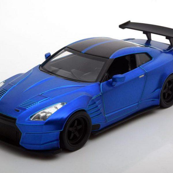 Brian´s Nissan GT-R ( R35) Ben Sopra Fast and The Furious Blauw 1-24 Jada Toys