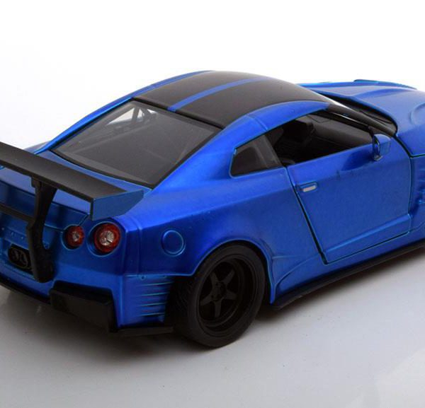 Brian´s Nissan GT-R ( R35) Ben Sopra Fast and The Furious Blauw 1-24 Jada Toys