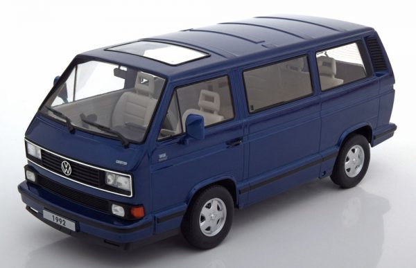 Volkswagen Bus T3 Multivan 1992 Blauw 1-18 KK Scale Limited 1750 Pieces