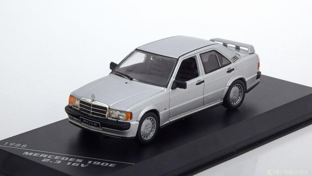 Mercedes-Benz 190E 2.3 16V 1988 Zilver 1-43 Whitebox Limited 1000 Pieces