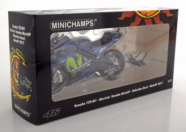"Yamaha YZR-M1 No.46, Moto GP 2016 ""Movistar ""Valentino Rossi 1-12 Minichamps Limited 2496 Pcs"