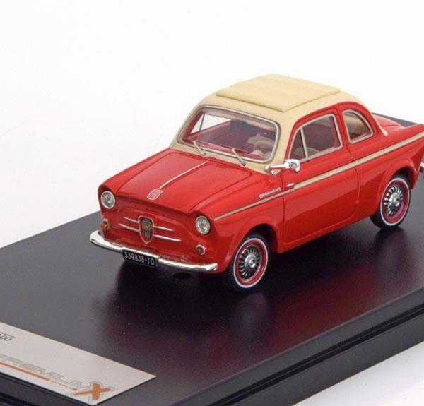 NSU Fiat Weinsberg 500 1960 Rood 1-43 PremiumX